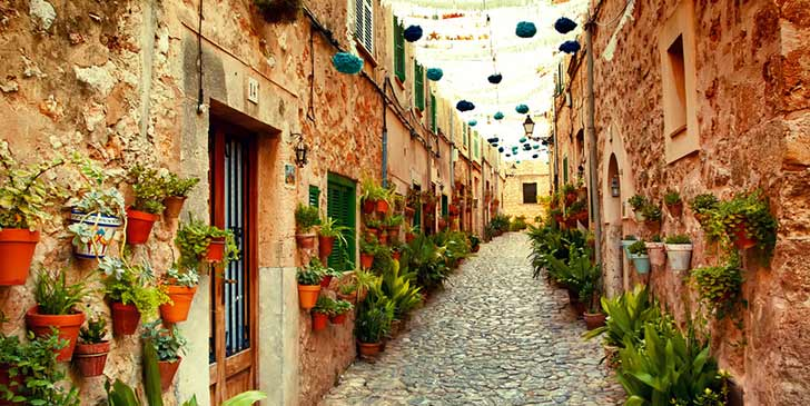 Gasse in Valldemossa